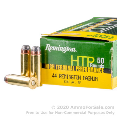 500 Rounds of 240gr SP .44 Mag Ammo by Remington HTP
