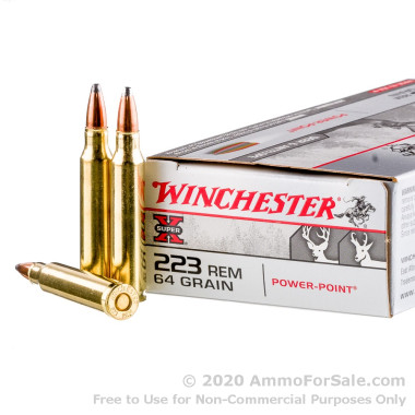200 Rounds of 64gr PP .223 Ammo by Winchester Super-X