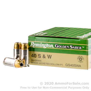 25 Rounds of 165gr JHP .40 S&W Ammo by Remington