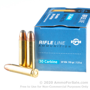 500  Rounds of 110gr SP .30 Carbine Ammo by Prvi Partizan
