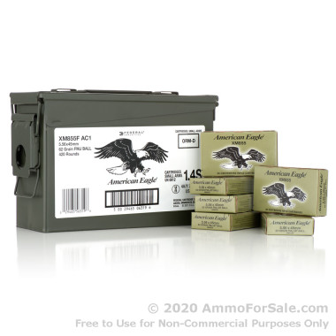 420 Round Ammo Can of 62gr FMJ XM855 5.56x45 Ammo by Federal