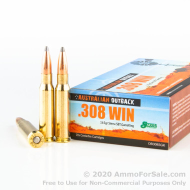 200 Rounds of 165gr SPBT .308 Win Ammo by Australian Defense Industries
