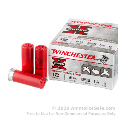 250 Rounds of  #6 shot 12ga Ammo by Winchester Super-X Game & Field