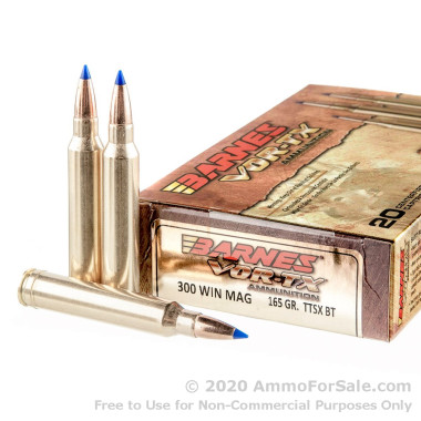 20 Rounds of 165gr TTSX .300 Win Mag Ammo by Barnes