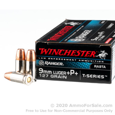 50 Rounds of 127gr JHP 9mm +P+ Ammo by Winchester
