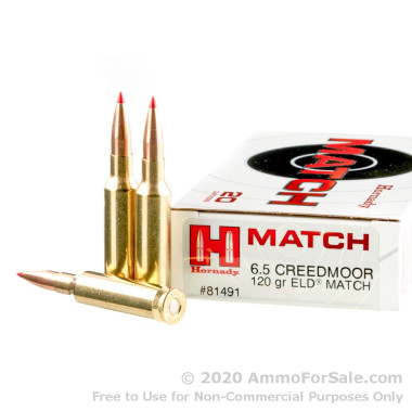 20 Rounds of 120gr ELD Match 6.5 Creedmoor Ammo by Hornady