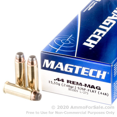 50 Rounds of 240gr SJSP .44 Mag Ammo by Magtech