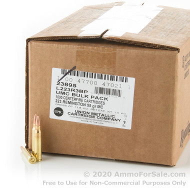 1000 Rounds of 55gr MC .223 Ammo by Remington