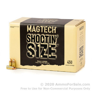 900 Rounds of 115gr FMJ 9mm Ammo by Magtech