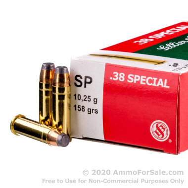 50 Rounds of 158gr SJSP .38 Spl Ammo by Sellier & Bellot