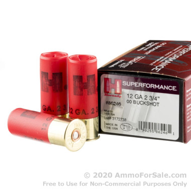 10 Rounds of  00 Buck 12ga Ammo by Hornady