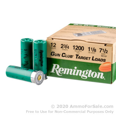 25 Rounds of 1 1/8 ounce #7 1/2 shot 12ga Ammo by Remington