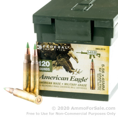 600 Rounds of 62gr FMJ 5.56x45 Ammo by Federal