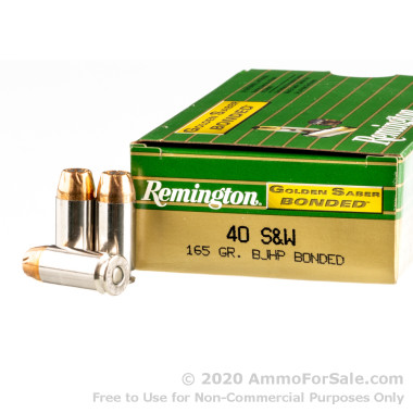 50 Rounds of 165gr JHP .40 S&W Ammo by Remington