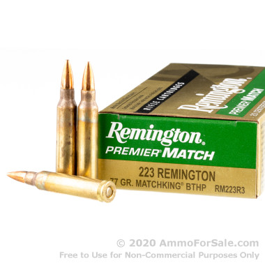 20 Rounds of 77gr HPBT .223 Ammo by Remington