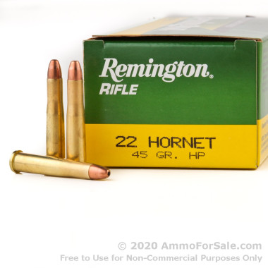 50 Rounds of 45gr HP .22 Hornet Ammo by Remington