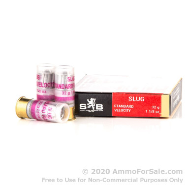 250 Rounds of 1 1/8 ounce Slug 12ga Ammo by Sellier & Bellot