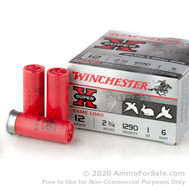 25 Rounds of 1 ounce #6 lead shot 12ga Ammo by Winchester