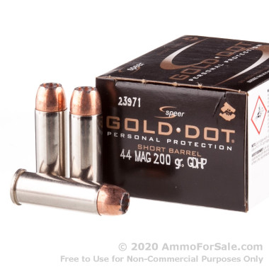 20 Rounds of 200gr JHP .44 Mag Ammo by Speer