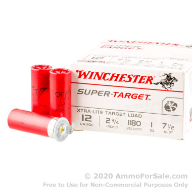 250 Rounds of 1 ounce #7 1/2 shot 12ga Ammo by Winchester Super Target