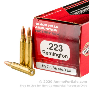 50 Rounds of 55gr TSX .223 Ammo by Black Hills Ammunition
