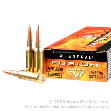 200 Rounds of 90gr SP 224 Valkyrie Ammo by Federal