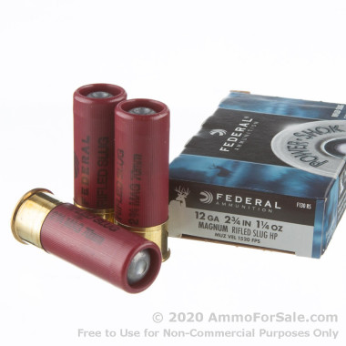 5 Rounds of 1 1/4 ounce Rifled Slug 12ga Ammo by Federal