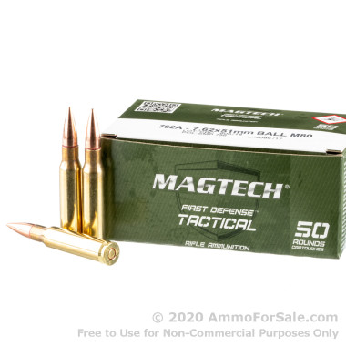 1000 Rounds of 147gr FMJ 7.62x51mm Ammo by Magtech