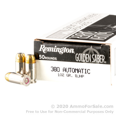 500 Rounds of 102gr BJHP .380 ACP Ammo by Remington