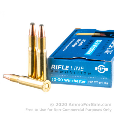 20 Rounds of 170gr FSP 30-30 Win Ammo by Prvi Partizan