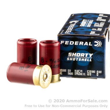 """10 Rounds of 1-3/4"""" #8 Shot 12 Gauge Ammo by Federal"""