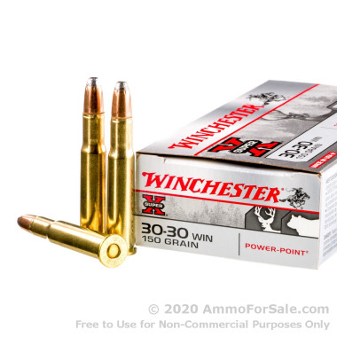 200 Rounds of 150gr Power-Point 30-30 Win Ammo by Winchester