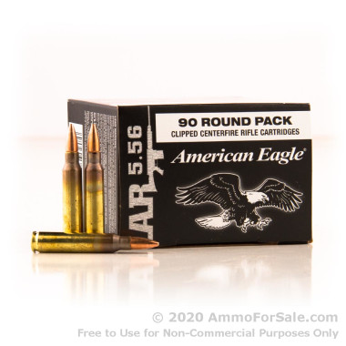 450 Rounds of 55gr FMJBT 5.56x45 Ammo by Federal