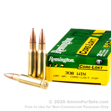 20 Rounds of 180gr PSP .308 Win Ammo by Remington