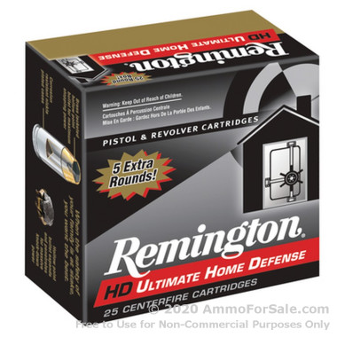 9mm 124 gr JHP Remington Ultimate Home Defense Ammunition For Sale!