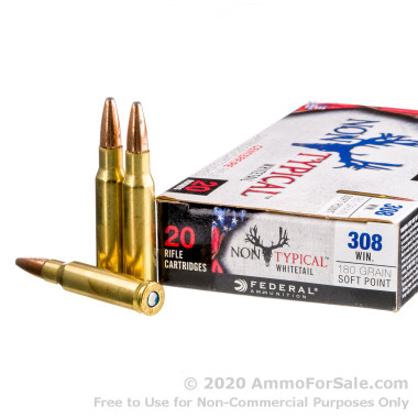 200 Rounds of 180gr SP .308 Win Ammo by Federal