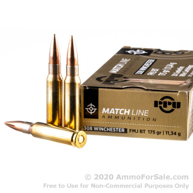 20 Rounds of 175gr FMJBT .308 Win Ammo by Prvi Partizan