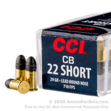 100 Rounds of 29gr LRN .22 Short Ammo by CCI