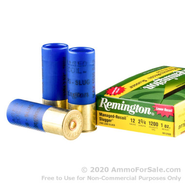 5 Rounds of 1 ounce Rifled Slug 12ga Ammo by Remington