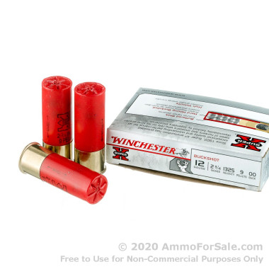 250 Rounds of  00 Buck 12ga Ammo by Winchester