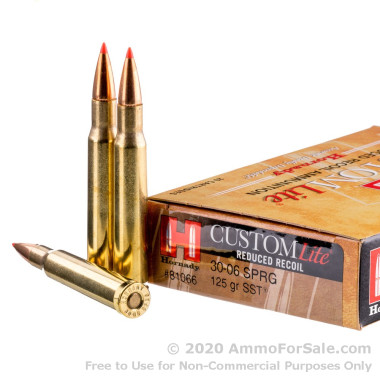 20 Rounds of 125gr SST 30-06 Springfield Ammo by Hornady
