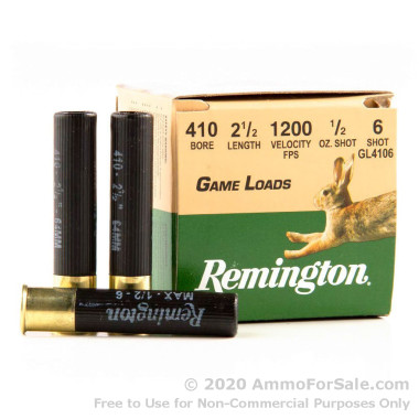 200 Rounds of 1/2 ounce #6 shot .410 Ammo by Remington