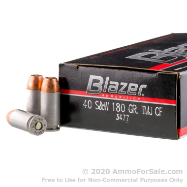 1000 Rounds of 180gr TMJ .40 S&W Ammo by Blazer