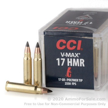 2000 Rounds of 17gr V-MAX .17HMR Ammo by CCI