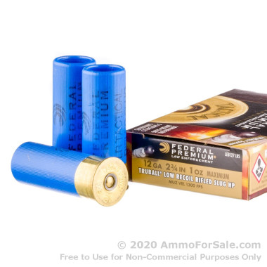 """250 Rounds of 2-3/4"""" 1 ounce Rifled Slug 12ga Ammo by Federal Tactical Truball Low Recoil"""