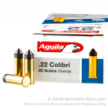 500  Rounds of 20gr LRN .22 LR Ammo by Aguila
