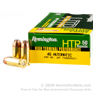 50 Rounds of 230gr JHP .45 ACP Ammo by Remington