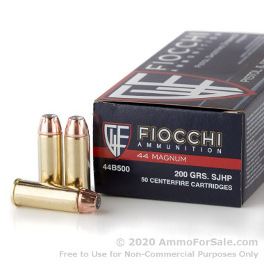 500 Rounds of 200gr SJHP .44 Mag Ammo by Fiocchi
