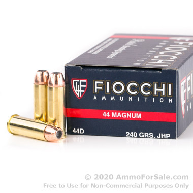 50 Rounds of 240gr JHP .44 Mag Ammo by Fiocchi