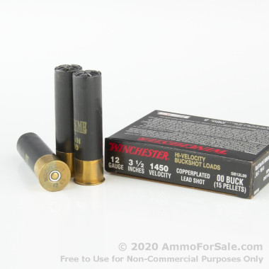 5 Rounds of  #00 Buck 12ga Ammo by Winchester Double-X